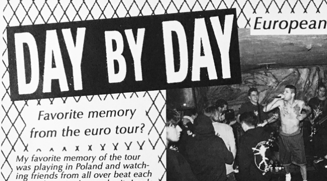 Day By Day – European Tour 2016 (Will To Speak fanzine)