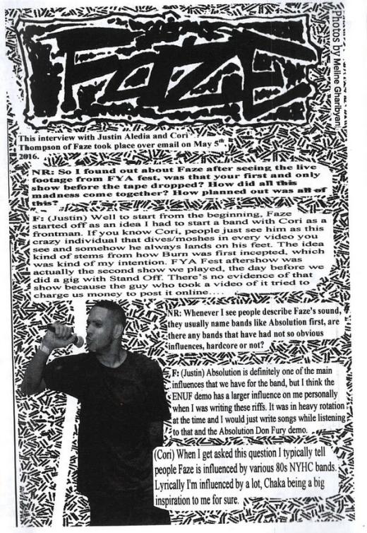 faze01 no rules fanzine