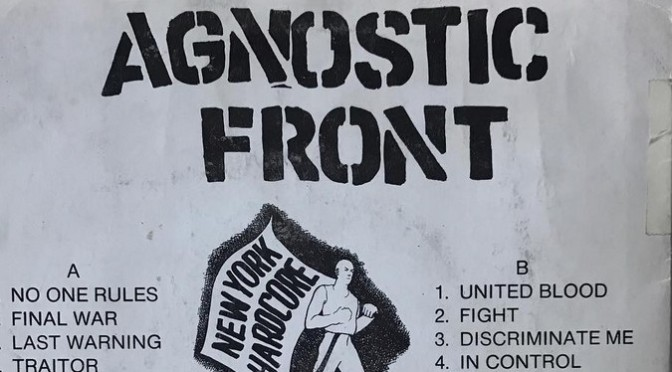 An in-depth analysis of the history of Agnostic Front, interview with Spoiler / Part II.