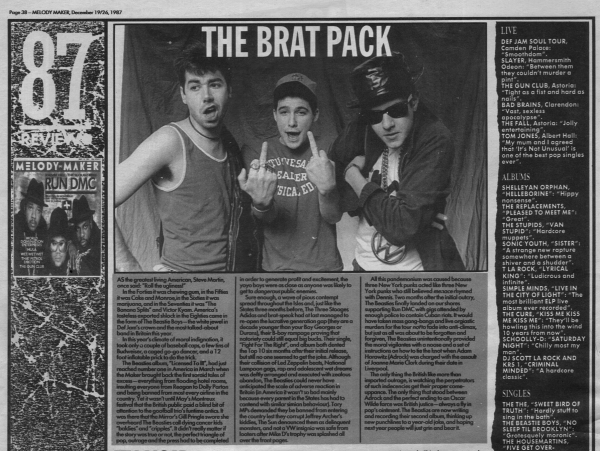 beastieboys78 Melody Maker Year-End Review December 1987