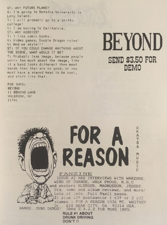 beyond05 stop and think fanzine issue 1