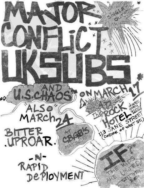 majorconflict03 bitter uproar 1st gig
